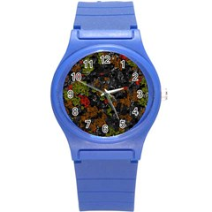 Autumn colors  Round Plastic Sport Watch (S)