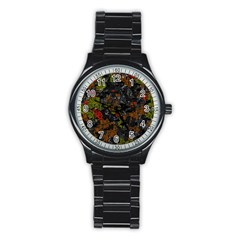 Autumn colors  Stainless Steel Round Watch