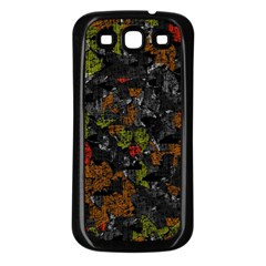 Autumn colors  Samsung Galaxy S3 Back Case (Black)