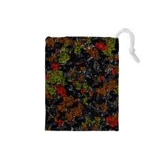 Autumn colors  Drawstring Pouches (Small)