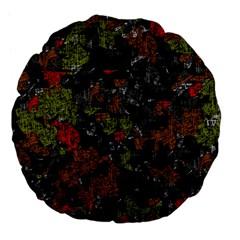 Autumn colors  Large 18  Premium Flano Round Cushions