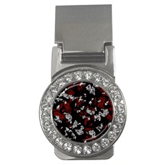 Red, white and black abstract art Money Clips (CZ)