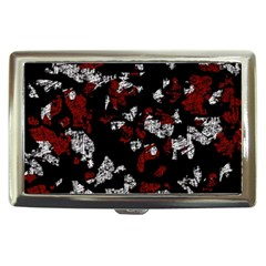 Red, white and black abstract art Cigarette Money Cases