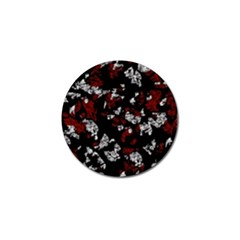 Red, white and black abstract art Golf Ball Marker (4 pack)