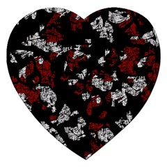 Red, white and black abstract art Jigsaw Puzzle (Heart)