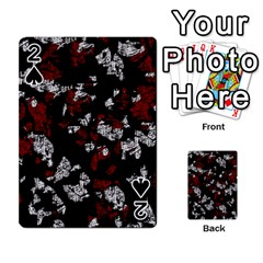 Red, white and black abstract art Playing Cards 54 Designs