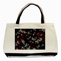 Red, white and black abstract art Basic Tote Bag (Two Sides)