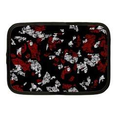 Red, white and black abstract art Netbook Case (Medium)