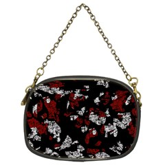 Red, white and black abstract art Chain Purses (Two Sides)