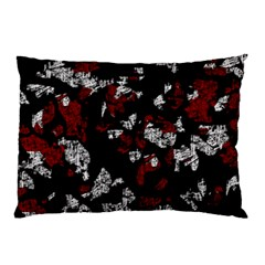 Red, white and black abstract art Pillow Case