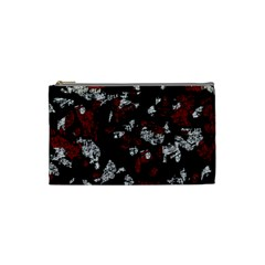 Red, white and black abstract art Cosmetic Bag (Small)