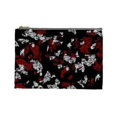 Red, white and black abstract art Cosmetic Bag (Large)