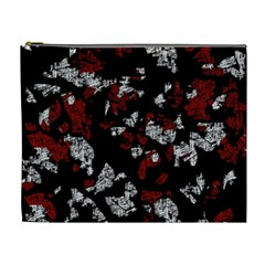 Red, white and black abstract art Cosmetic Bag (XL)