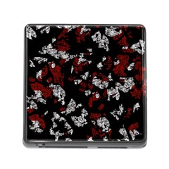 Red, white and black abstract art Memory Card Reader (Square)