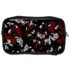Red, white and black abstract art Toiletries Bags 2-Side