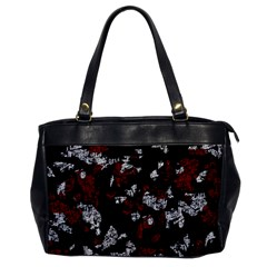 Red, white and black abstract art Office Handbags