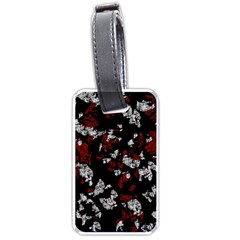 Red, white and black abstract art Luggage Tags (Two Sides)
