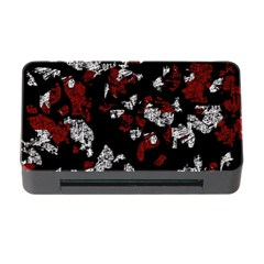 Red, white and black abstract art Memory Card Reader with CF