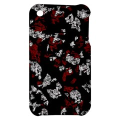Red, white and black abstract art Apple iPhone 3G/3GS Hardshell Case