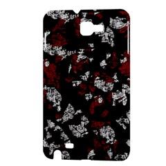 Red, white and black abstract art Samsung Galaxy Note 1 Hardshell Case