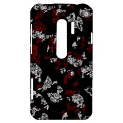 Red, white and black abstract art HTC Evo 3D Hardshell Case