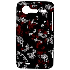 Red, white and black abstract art HTC Incredible S Hardshell Case