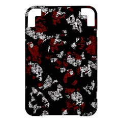 Red, white and black abstract art Kindle 3 Keyboard 3G