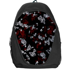 Red, white and black abstract art Backpack Bag