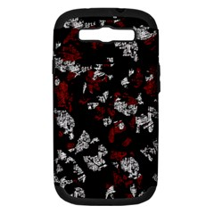 Red, white and black abstract art Samsung Galaxy S III Hardshell Case (PC+Silicone)