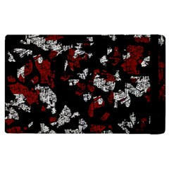 Red, white and black abstract art Apple iPad 2 Flip Case