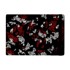 Red, white and black abstract art Apple iPad Mini Flip Case