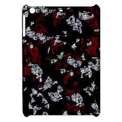 Red, white and black abstract art Apple iPad Mini Hardshell Case