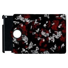 Red, white and black abstract art Apple iPad 3/4 Flip 360 Case