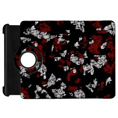 Red, white and black abstract art Kindle Fire HD Flip 360 Case