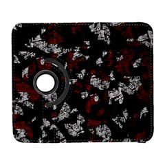 Red, white and black abstract art Samsung Galaxy S  III Flip 360 Case