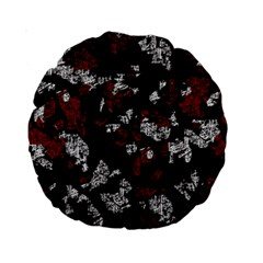 Red, white and black abstract art Standard 15  Premium Round Cushions