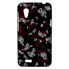 Red, white and black abstract art HTC Desire VT (T328T) Hardshell Case