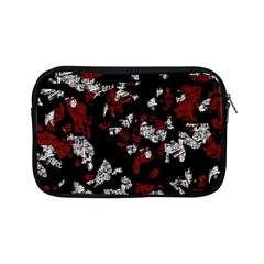 Red, white and black abstract art Apple iPad Mini Zipper Cases