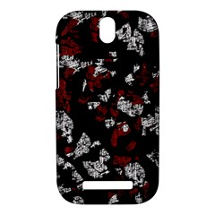Red, white and black abstract art HTC One SV Hardshell Case