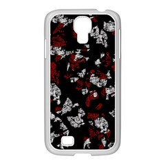 Red, white and black abstract art Samsung GALAXY S4 I9500/ I9505 Case (White)