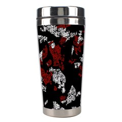 Red, white and black abstract art Stainless Steel Travel Tumblers