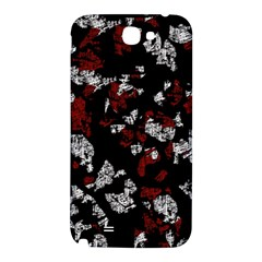 Red, white and black abstract art Samsung Note 2 N7100 Hardshell Back Case