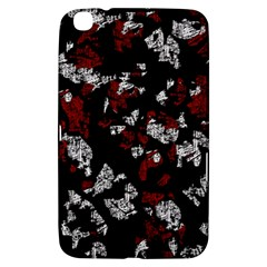 Red, white and black abstract art Samsung Galaxy Tab 3 (8 ) T3100 Hardshell Case