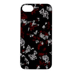 Red, white and black abstract art Apple iPhone 5S/ SE Hardshell Case