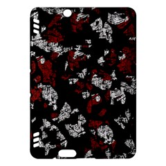 Red, white and black abstract art Kindle Fire HDX Hardshell Case