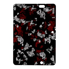 Red, white and black abstract art Kindle Fire HDX 8.9  Hardshell Case