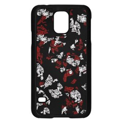 Red, White And Black Abstract Art Samsung Galaxy S5 Case (black)