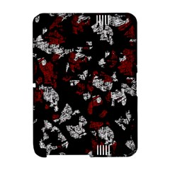 Red, white and black abstract art Amazon Kindle Fire (2012) Hardshell Case