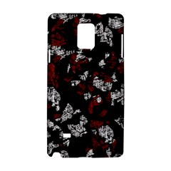 Red, white and black abstract art Samsung Galaxy Note 4 Hardshell Case