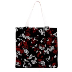 Red, white and black abstract art Grocery Light Tote Bag